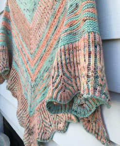 Tropical Shores shawl