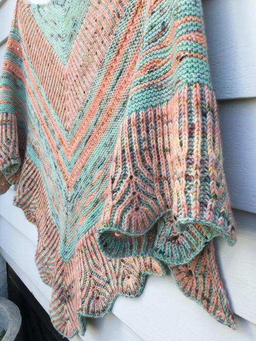 Tropical Shores shawl